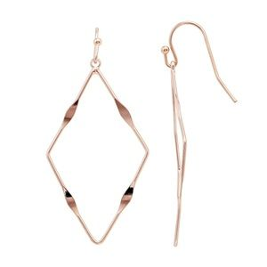 LC Hammered Nickel Free Geometric Hoop Earrings